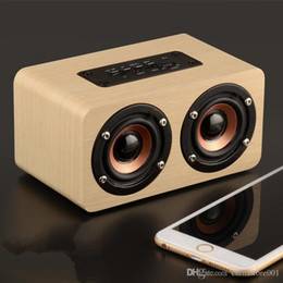 bluetooth mini speaker good sound UK - Wooden Wireless Speaker Mini Portable Outdoor Card AUX Audio HIFI Subwoofer Bluetooth Speakers MP3 Music Player Good Sound