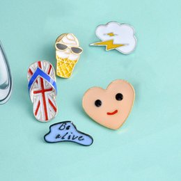 $enCountryForm.capitalKeyWord Australia - Cartoon Balloon Clouds Heart brooch Smile Face Ice cream Slippers Brooches Metal Enamel Pins Button Bag Jacket Collar Badge Jewelry dropship
