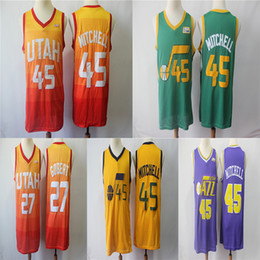 Utah Donovan 45 Mitchell Rudy 27 Gobert 201819 Swingman Jersey Earned Men  Basketball Jerseys cca5cb982