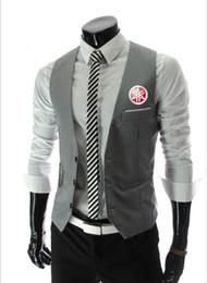 $enCountryForm.capitalKeyWord Australia - Men's new top yamaha vest motorcycle Slim men's suit vest Gilet casual sleeveless dress business jacket