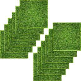 Dollhouse Diy online shopping - Artificial Garden Grass Life Like Fairy Artificial Grass Lawn X Inches Miniature Ornament Garden Dollhouse Diy Grass Pac