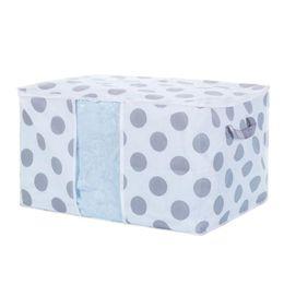 $enCountryForm.capitalKeyWord Australia - Big Dots Foldable Storage Bag Dusproof Clothes Blanket Quilt Holder Organizer Pouch Zipper Closet Box Portable Carrier Bag Stars