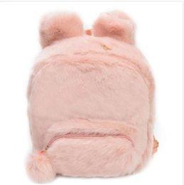 $enCountryForm.capitalKeyWord Australia - Fashion Famous Brand Women Faux fur Backpacks for Teenage Girls Furry Fluffy Plush Zipper Student School Bags Small Design Shoulder Bag