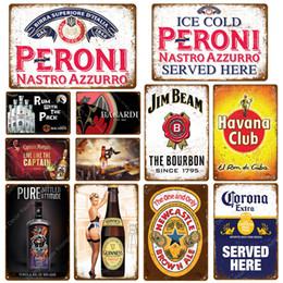 Vino Dulce Placa Guinness Habana Miller de la vendimia del metal de chapa por Pub Bar Casino decoración de la pared Ricard vino de la cerveza del cartel 2019 de la venta caliente en venta