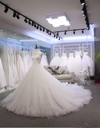 glitter tulle Australia - Sweetheart Neck Glitter Tulle Wedding Dresses Court Train Appliques Beaded Tulle Zipper up Back Bridal Wedding Gowns