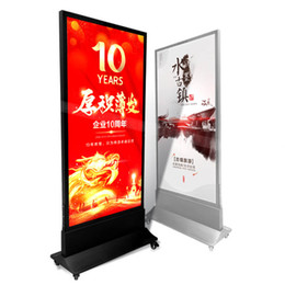 Picture frames led lights online shopping - 60 cm Aluminum Picture Frame Advertisement Display LED Free Standing Light Box with Base Wheels Wooden Case Packing