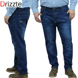 3adc13419c6 Drizzte Mens Brands Plus Size 33 34 36 40 42 44 46 48 Stretch Big Large  Denim Jeans Best Mens Work Business Jean Trousers Pants