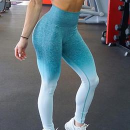 $enCountryForm.capitalKeyWord Australia - Zhangyunuo Push Up Yoga Leggings Compression Tights Slim Ombre Seamless Gym Leggings Sport Fitness Tummy Control Workout C19040301