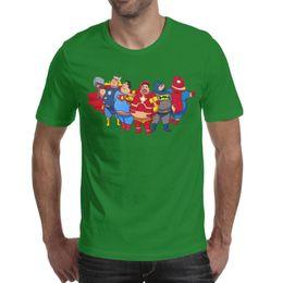 $enCountryForm.capitalKeyWord Australia - Batman Thor Spider-Man Iron man superman memory green men's short sleeve tee shirts designer t shirt 100%cotton branded funny men's Tops