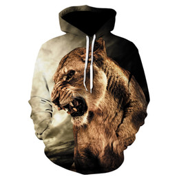4df2a02bfdb2 Graphic Sweat Shirts Australia - Lion 3d Printed Hooded Shirts Hoodies  Casual Graphic Hoodie Funny Sweat