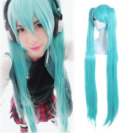 vocaloid christmas cosplay Australia - Details about VOCALOID HATSUNE MIKU Wigs Cosplay Blue Long Straight Detachable Ponytails Wig