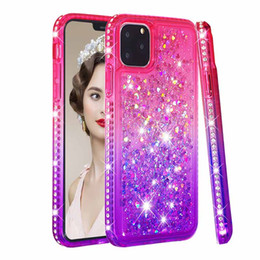 Dynamic glitter case black iphone online shopping - Cute Diamond Case for Apple iPhone Glitter Liquid Silicone Bumper Cover for iPhone Pro Dynamic Quicksand Cases for XR XS Max plus