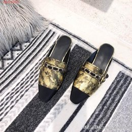 Women Booties Australia - 2019 Classic Women Flat Sandals, Square head cowhide splicing slippers for ladies for Summer - fashion shoes Size 35-39