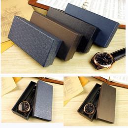 $enCountryForm.capitalKeyWord NZ - Delicate Paper Cardboard Watch Box Durable Present Gift Box Case Black Carton Boxs Wrist Watch Jewelry Present Gift Box