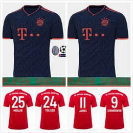 Lewandowski Jersey Australia - Player version 19 20 Bayern Munich soccer Jerseys home LEWANDOWSKI MULLER 2019 2020 Decommissioning printing robben RIBERY football shirts