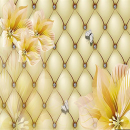 living packs Australia - wallpaper for walls 3 d for living room Lily flower wallpapers luxury soft pack background wall