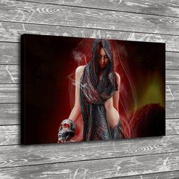 Discount sexy nude figures - Gothic Sexy Girl Picture,Home Decor HD Printed Modern Art Painting on Canvas (Unframed Framed)