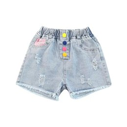 Product Brand Color Australia - Summer Girls' Denim Shorts Fashion new products Shown legs are long and thin personality 0310