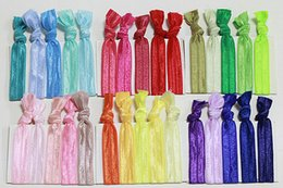 $enCountryForm.capitalKeyWord Australia - fashion hot Knotted Hair Ties Fold Over Elastic Hair Band FOE Band Gilrs Ponytail Holder Assorted Colors