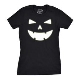 $enCountryForm.capitalKeyWord UK - Womens Happy Tooth Glow in the Dark Pumpkin T Shirt Face Halloween Tee For