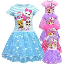 c4415c8ca8d INS Hot Girls poupée surprenante Jupe à plis double avec fil d écran à  manches courtes robe TUTU pour 3-7T filles surprise bébé robe