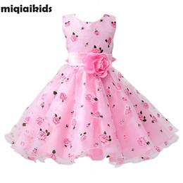 $enCountryForm.capitalKeyWord Australia - Retail Flower Sashes Wedding Party Girl Floral Print Baby Dress First Communion Kids Dresses Size: 100-150 L619 Q190522