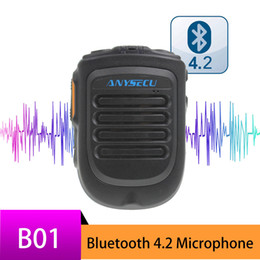 Wholesale Bluetooth Microphone B01 Handheld Wireless Microphone for 3G 4G Newwork IP Radio With REALPTT ZELLO App Android Mobile Phone
