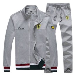 $enCountryForm.capitalKeyWord Australia - 2018 Sport Suit Men Sports Suits Loose Tracksuits Mens Spring Autumn Fitness Running suits Set Warm Jogging Tracksuit