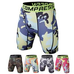Yellow Compression Shorts Australia - psvteide Sport Shorts Men Workout Shorts Men Gym Running Crossfit Elastic 3XL Size Boxer Camouflage Compression Short
