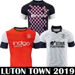 football league NZ - New 2019 LUTON TOWN FC Soccer Jerseys 2019 Championship LEAGUE football shirts COLLINS LUALUA BAPTISTE LUTON 19 20 kit equipment soccer tops
