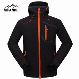 Wholesale tech clothes for sale – custom Waterproof Hooded Softshell Jacket Men Mammoth Hiking Clothing Thermal Tech Fleece Ski Fishing Climbing Clothes