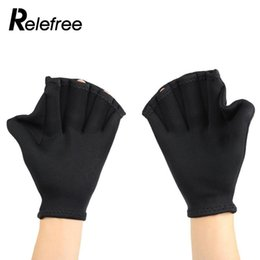 $enCountryForm.capitalKeyWord UK - 1Pair Swimming Flippers Gloves Diving Training Paddle Gear Fins Hand Web Finger Webbed sports swim Palm Soft Women Men Kids
