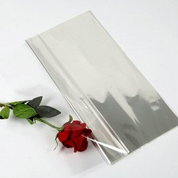 Transparent Cards Australia - 25 Micro 45cm*45cm 54cmx854cm Transparent Flower Wrapping BOPP Cellophane Film Waterproof 70 pcs bag Floral Package