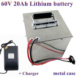 $enCountryForm.capitalKeyWord NZ - Steel case battery 60v 20Ah Lithium 50A BMS 3000w for scooter 60v ATV EV RV Golf cart tricycles solar panal inverter + charger