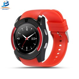 $enCountryForm.capitalKeyWord Australia - Smart wear V8 smart watch sports wristband with 0.3M camera HD full circle display smart watch for Android system