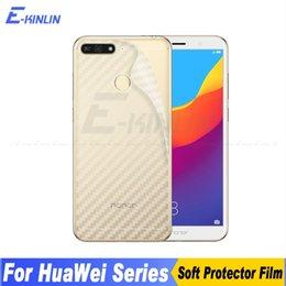 $enCountryForm.capitalKeyWord Australia - 3D Carbon Fiber Back Cover Screen Protector For HuaWei Honor 8C 7A 7C 6C Pro 6X 5 5C Sticker Protective Film Not Glass