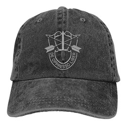 Special Forces Caps Australia - 2019 New Custom Baseball Caps US Special Forces Insignia Mens Cotton Adjustable Washed Twill Baseball Cap Hat