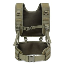 Discount detachable train belt Outdoor Training Tactical Padded Battle Belt Detachable Suspender Straps Combat Duty Belt With Comfortable Pads Wholesal