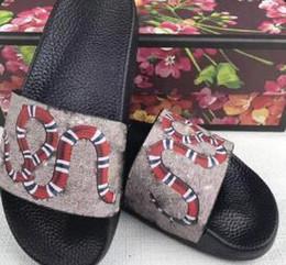 Green Flip Flops Australia - Designer Sandal Rubber Slides Blooms Green Red White Web Fashion Mens Womens casual Shoes Beach Flip Flops with dust Bag 987023
