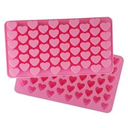 $enCountryForm.capitalKeyWord Australia - New Silicon chocolate molds heart shape 55 holes silicon cake mold silicon ice tray jelly moulds soap mold cake bakeware tools