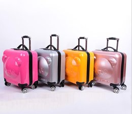 $enCountryForm.capitalKeyWord Australia - Recommended free shipping 20 inch children bear trolley case universal wheel suitcase 3D cartoon bear student suitcase