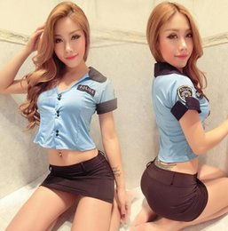 Sm Suits Australia - Sexy inner clothes sexy stewardess female police nightclub skirt cosplay uniform passion suit sm