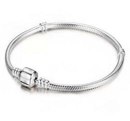 $enCountryForm.capitalKeyWord Australia - 2019Factory Wholesale 925 Sterling Silver Bracelets 3mm Snake Chain Fit Pandora Charm Bead Bangle Bracelet Jewelry Gift For Men Wo1564021575