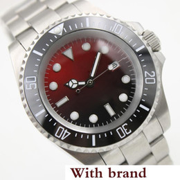 $enCountryForm.capitalKeyWord Australia - Automatic Silver Stainless Steel Bracelet Date Mens Watches Red Dial With A Ceramic Top Ring Luminous Hands and Dot Hour Markers