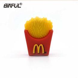 $enCountryForm.capitalKeyWord Australia - French Fries Flash Food Pen Drive Stick Cute U Disk 16gb 4gb 8gb 32gb 64gb Pendrive Usb 2.0 Lovely Gift