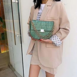 $enCountryForm.capitalKeyWord NZ - Vintage Alligator Bags For Women 2019 Luxury Handbags Women Bags Designer Chain Saddle Female Shoulder Messenger Sac