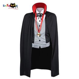 Halloween Costume Black Vampire Dress Australia - alloween costume adult Men Vampire Costume Halloween Costumes Adult Male Fantasy Cosplay Fancy Dress Gothic Cloak Cape Stand Collar for P...
