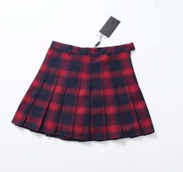 d14baafc156a Autumn Winter Harajuku Women Fashion Skirts Cute Yellow Black Red Lattice  Pleated Skirt Punk Style High Waist Female Short Skirt