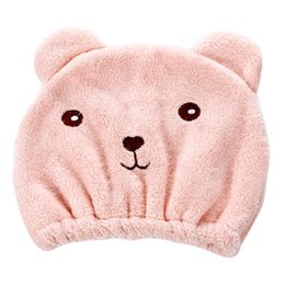 $enCountryForm.capitalKeyWord NZ - Wrap Towel Cute Bear Strong Absorbing Shower Quick-dry Hat Soft Dry Hair Cap Cartoon