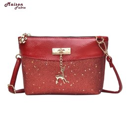 Silver Sequin Shoulder Bag NZ - Cheap Maison Fabre Fashion shoulder bag women Girl Bling Sequins Flap Bags Pretty Deer Crossbody Shoulder Bags Dropshipping
